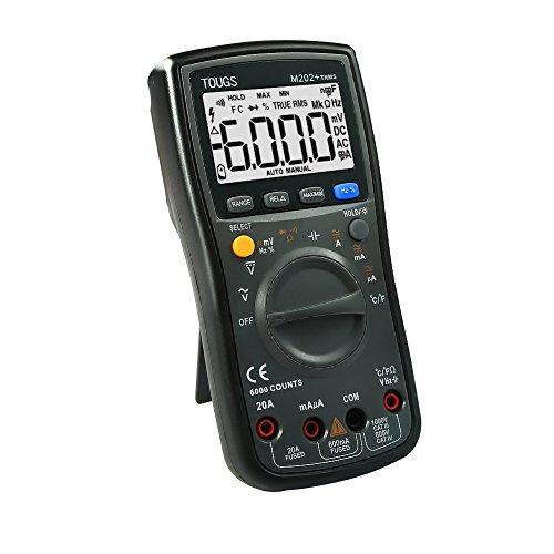 Digital Multi-tester (TOUGS M202 True-RMS Autorange Digital Multimeter Elektrischer Multi Tester mit REL und MAX / MIN Datum Hold)