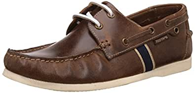 Red Tape Men's Brown Leather Boat Shoes - 6 UK