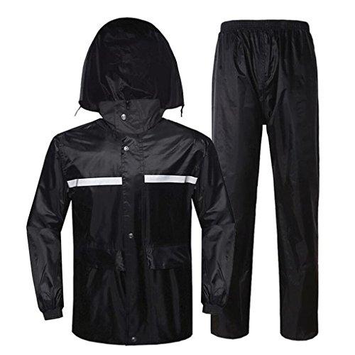 LAXF-Regenjacken Regenanzug für Männer und Frauen Wiederverwendbare Regenkleidung (Regenjacke und Regenhosen Set) Erwachsene Kapuze Outdoor Arbeit Motorrad Golf Angeln Wandern Jagd