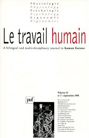 Travail humain, 1998, numéro 3, tome 61