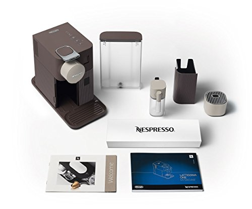 Nespresso Lattissima One Pod Coffee Machine by De'Longhi EN500BW - Mocha Brown