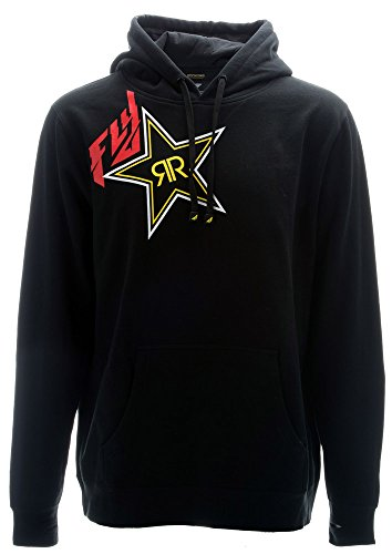 Fly Racing Kapuzenpulli Rockstar schwarz, XL (Energy Rockstar Hoodies Drink)