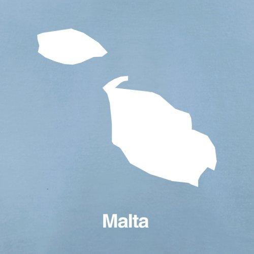 Malta / Republik Malta Silhouette - Herren T-Shirt - 13 Farben Himmelblau