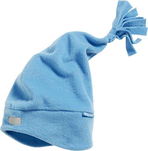 Playshoes Unisex Strickmütze Warme Fleecemütze, Zipfelmütze, Oeko Tex Standard 100, Gr. Small (Herstellergröße: 49cm), Blau (aquablau 23) (Fäustlinge Mütze)