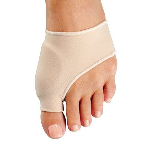 ELKO - Nylon bunion sleeve with built in gel pad protector for Hallux Valgus (1 pair, 2 pieces) (Small - UK Shoe Size up to 8.5)