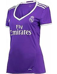 Femme 20162017Real Madrid CF DIY Nom et Nombre de Jersey de Football de football Away Violet moyen violet