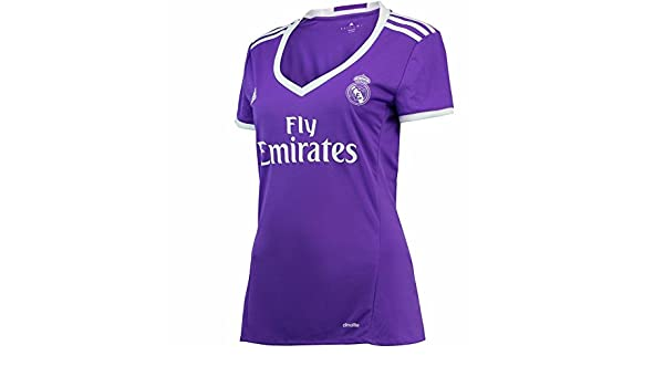 Women s 2016 2017 Real Madrid CF DIY Name and Number Away Football Soccer  Jersey In Purple  Amazon.co.uk  Sports   Outdoors 43180c0e31e6d