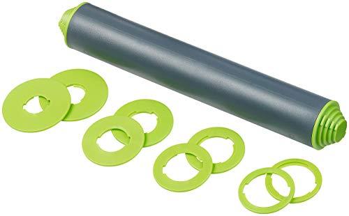 Rosenstein & Söhne Wellholz: Höhenverstellbarer Teigroller mit Anti-Haft-Effekt, BPA-frei, 30 cm (Rollholz)