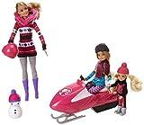 Barbie Famille Et Amis - Coffret Barbie Et Ses Sœurs avec Motoneige