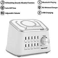 White Noise Machine Weißes Rauschen Schlafhilfe mit 10 Beruhigender Geräuschen, Bluetooth Play Funktion, Time... preisvergleich bei billige-tabletten.eu