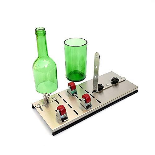 Hylotele Einstellbare Flaschenschneider DIY Glas Wein Glasflaschenschneider Hohe Festigkeit Und Härte Weinflasche Glasflaschen Schneider Glasschneider für Schneidemaschine Handwerk Recycling werkzeug -