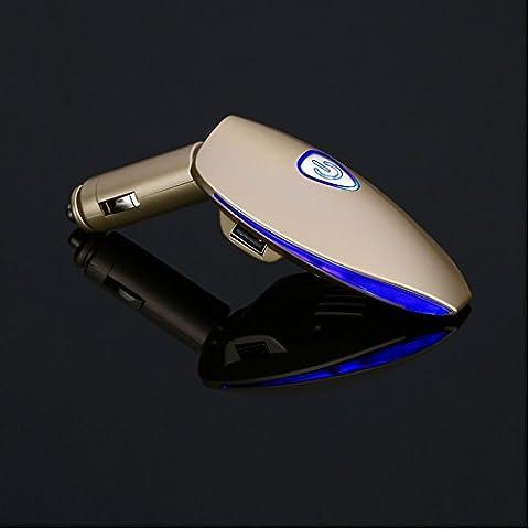 BENKS purificatore d'aria Freshener-Deodorante per auto con doppia porta USB per caricare-Purificatore aria agli ioni per barra dell'ossigeno per auto con caricatore