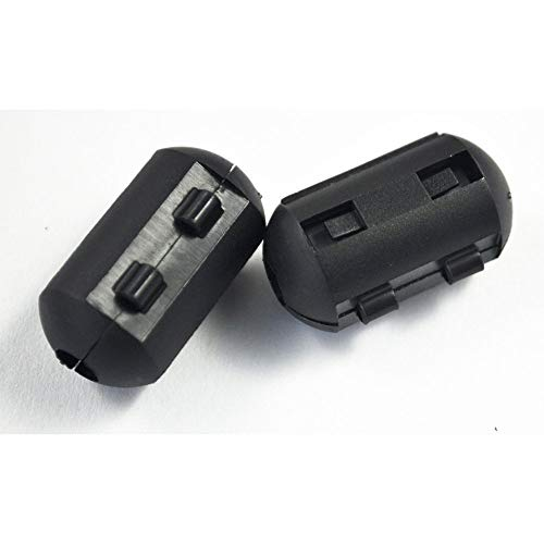 SODIAL(R) 10 Stueck 5mm Innendurchmesser schwarze Ferritkern Filter Kabel-Clip