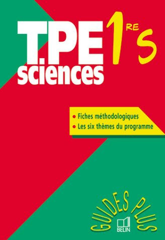 Tpe sciences 1re S
