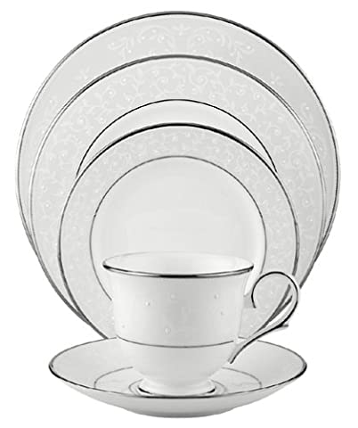 Lenox Opal Innocence Platinum-Banded Bone China 5-Piece Place Setting, Service for 1 by Lenox