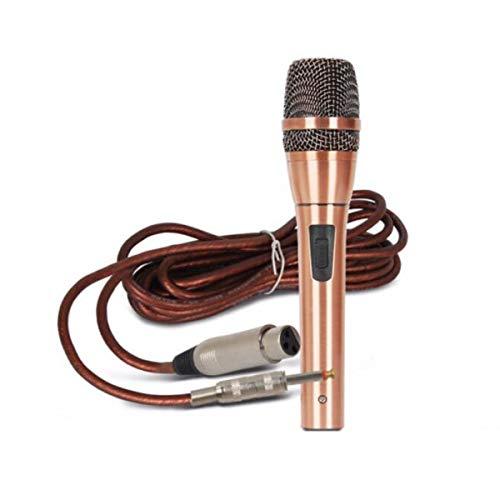 Kaiyitong Karaoke, Professionelles dynamisches Mikrofon, Heim-KTV-Gesang-Karaoke, All Metal Handheld (Color : Rose Gold) (Zur Verstärkung Lautsprecher)