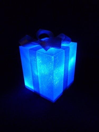 Exklusive LED Geschenkbox Weihnachten leuchtend 12,5 cm x 12,5 cm x 15 cm Weihnachtsdekoration Deko Weihnachten Lichterkette Beleuchtung Dekoration - Geschenkboxen Weihnachten Beleuchtete