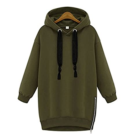 GWELL Femme Pullover Sweatshirt Sweat à Capuche Veste Polaire Chaud