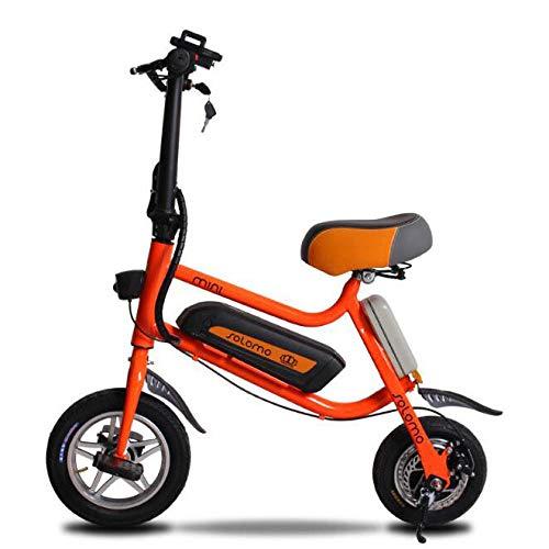 Hold E-Bikes 12 Zoll Mini Folding Elektro-Fahrrad Zwei Räder Elektro-Fahrrad 36V 250W Adult Elektroroller mit Sitz@Orange