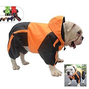 2019 Regenmantel mit Kapuze, für große / mittlere / kleine Hunde  Unser Hunde-Regenmantel kann helfen, Ihre Haustiere trocken und bequem bei nassem Wetter zu halten. Winddicht und wasserdicht, halten Sie Ihre Hunde in diesem Winter zur gleichen ...