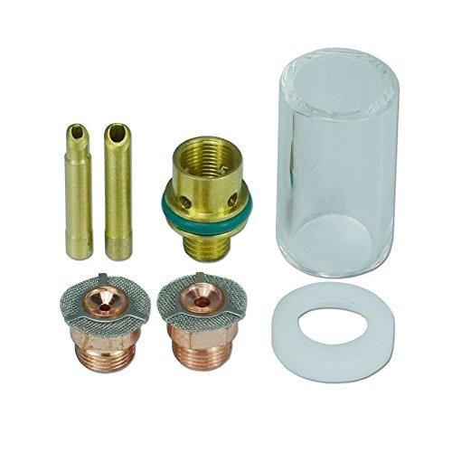 1,6 mm 2,4 mm Gas Sparen Pyrex-Becher Verbrauchsmaterial für WP SR 9 20 & 25 WIG Schweißbrenner, 7 Stück