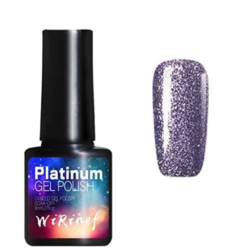 apie Nagellack Super Flash Nail Effect Nail Powder Keine polnischen Folie Nails Art Glitzer Nagellack Watopi ()
