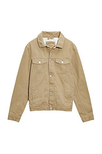 next Uomo Giacca Di Jeans Sabbia Stile Western Tan L