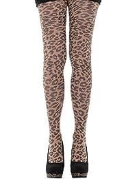 Hotlook Wildcat Strumpfhose Leopardenmuster Leo beige schwarz Raubkatze
