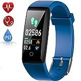 HETP Montre Connectée Cardiofréquencemètre, Bracelet Connecté Podomètre GPS Fitness Tracker d'Activité Tension Artérielle...