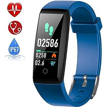 HETP Montre Connectée Cardiofréquencemètre, Bracelet Connecté Podomètre GPS Fitness Tracker dActivité Tension Artérielle Smartwatch Sport Femme Homme ...
