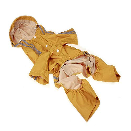 Regenmantel Gelben Kostüm - Tangminyidi Frühling und Sommer Regenmäntel Hund Kostüme mittlere Hund Regenmantel Haustier Regenmantel 3XL Gelber Regenmantel