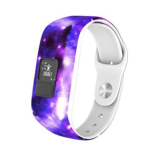 Skryo Sport Soft Silikon Armband Ersatzband für Garmin Vivofit 3 Uhr (Lila) (Soft-uhr)