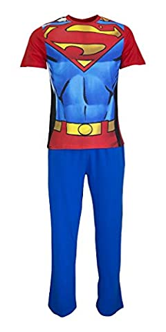 Mens Superman Neuheit Abendkleid -Pyjamas - G - XL / 45-47