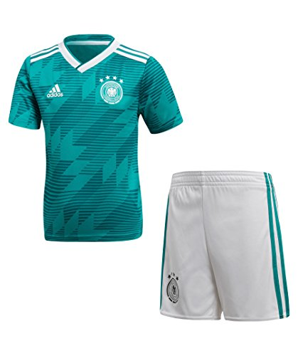 adidas Kinder DFB Away Minikit, EQT Green s16/White/Real Teal s10, 92