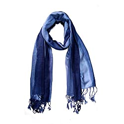 Stylezee Ombre Stripes in Beautifully Blended Colors Shawls & Stole (Light Blue::Blue)