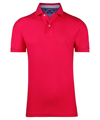 Tommy Hilfiger Herren Poloshirt 50/2 Performance Polo S/S Rf Himbeer