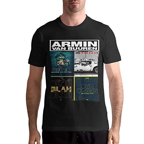 Quitelike Armin Van Buuren T Shirts Men's Tops Short Sleeved Round Neck Cotton Tee Tops Männer T-Shirts (T-shirts Benutzerdefinierte Billige)