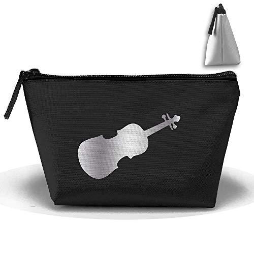 Violine Viola Violoncello Musik Platin Style Oxford Cloth Wash Make-up Taschen Damen Kulturbeutel Kosmetiktasche Platin-musik