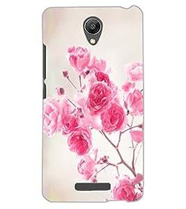 ColourCraft Beautiful Flowers Design Back Case Cover for XIAOMI REDMI NOTE 2