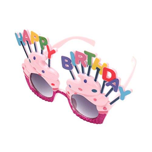 BESTOYARD Kindergeburtstagsfeier-Glas-süßer Sahne-Geburtstagskuchen-geformte Glas-Brillen leuchten Gläser Partei-Bevorzugungen für Geburtstag Baby-Dusche Cosplay Costome-Neuheit-Sonnenbrille