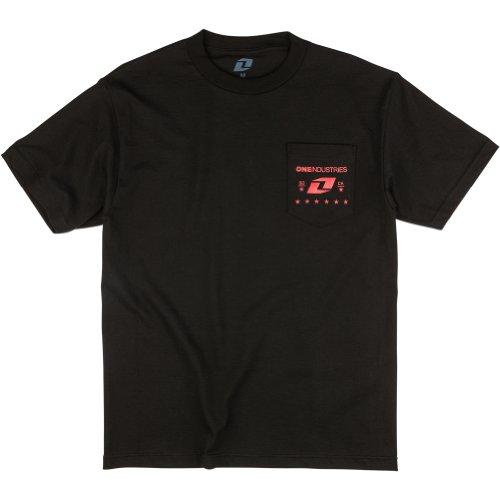 one-industries-t-shirt-pledge-schwarz-m-schwarz
