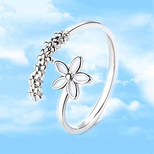 37ea507230 Luziang Ornamento de Mano Abierta de la señora Moda Anillo Flor  Blanca-Diseño de Moda romántica