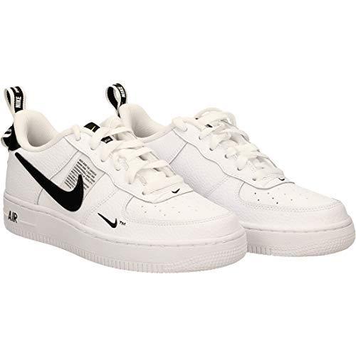 Nike Unisex-Kinder Sneaker, Weiß (White, White/Black, Tour Yellow), 38 EU (Weiße Nike Boys Sneakers)