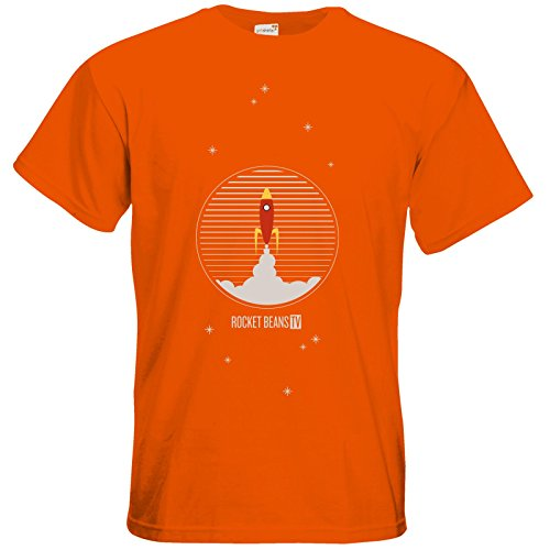getshirts - Rocket Beans TV Official Merchandising - T-Shirt - Rakete Orange