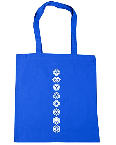 hippowarehouse Chakren Symbole Tote Shopping Gym Beach Bag 42 cm 38 38, 10 Liter, Kornblume (Blau), One size (- Bag Krebs-tote)