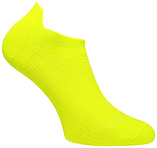Wrightsock Profi Sportsocke Sneakers Low Tab Gr. L - anti-blasen - Farbe gelb