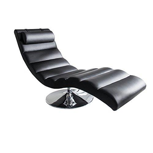 Moderne Design Liege RELAXO Relaxliege schwarz