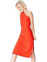 FIND Vestido Midi con un Hombro al Aire Mujer