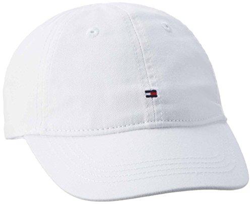 Tommy Hilfiger Jungen Kappe Ame Basic Cap, Weiß (Classic White 100), 176 (Herstellergröße: XL)