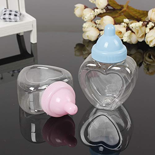 Tyro 12pcs Plastic Baby Bottle Candy Box Box Blue Boy Pink Girl Baptism Christening Birthday Party Favors Bottle